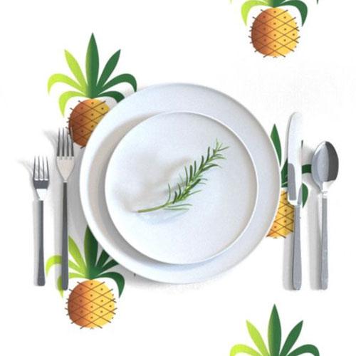 QwkDog Metlox Tropicana Pineapple Tablecloth 02