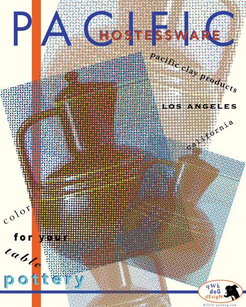 QwkDog Pacific Pottery Dadaist Print