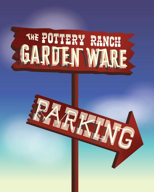 QwkDog Pottery Ranch Print