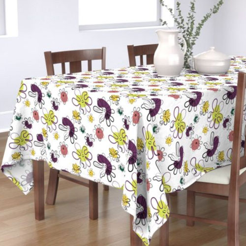 QwkDog Red Wing Fantasy Pattern Design Tablecloth 03