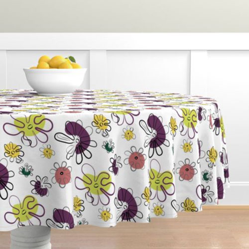 QwkDog Red Wing Fantasy Pattern Design Tablecloth 02
