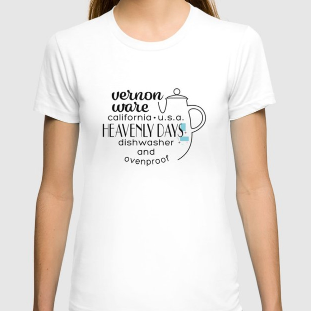QwkDog Vernon Kilns Heavenly Days Logo Design T-Shirt