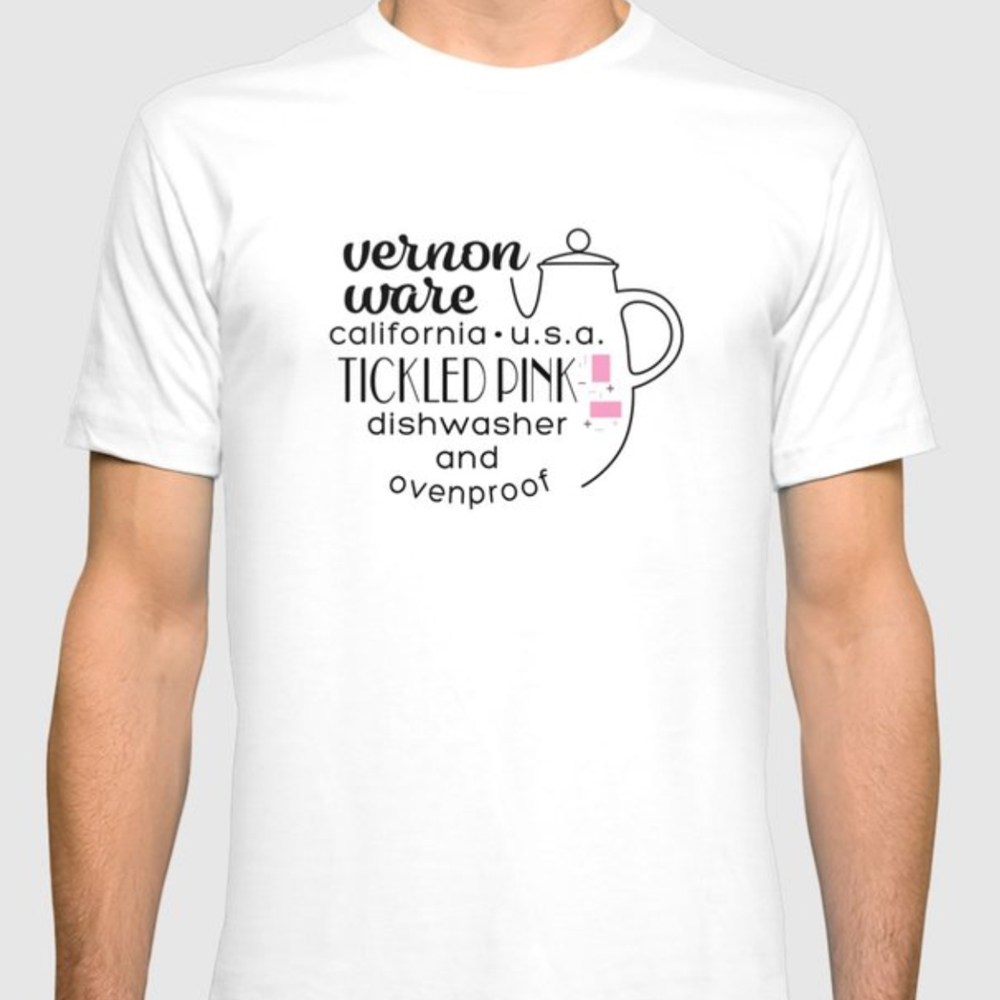 QwkDog Vernon Kilns Tickled Pink T-Shirt