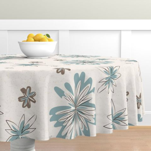QwkDog Vernon Kilns Young in Heart Tablecloth 01