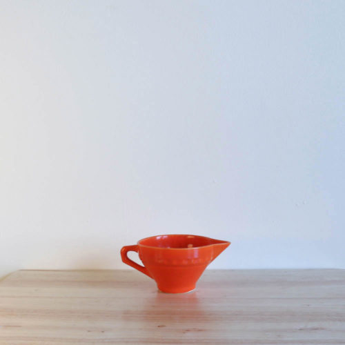 Vernon Kilns Coronado Creamer Orange