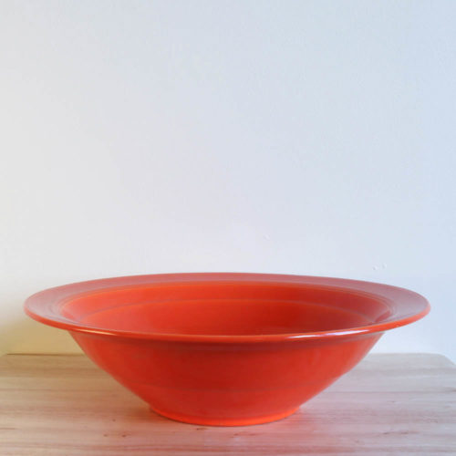 Vernon Kilns Early California Bowl Serving Large Angled Orange