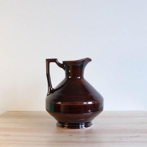 Vernon Kilns Early California Carafe Angled Brown