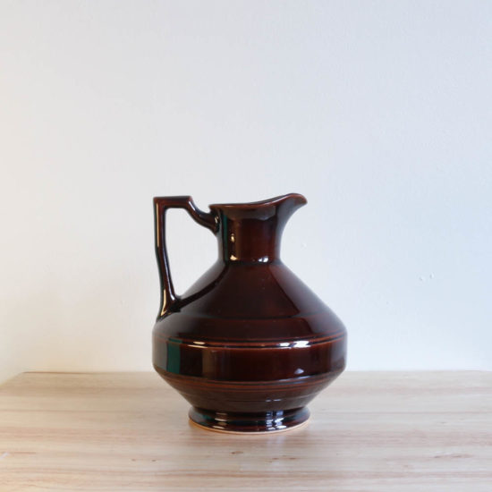 Vernon Kilns Early California Carafe Angled Brown