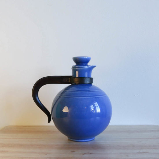 Vernon Kilns Early California Carafe Round Blue