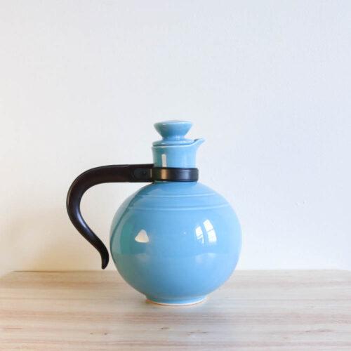 Vernon Kilns Early California Carafe Round Turquoise
