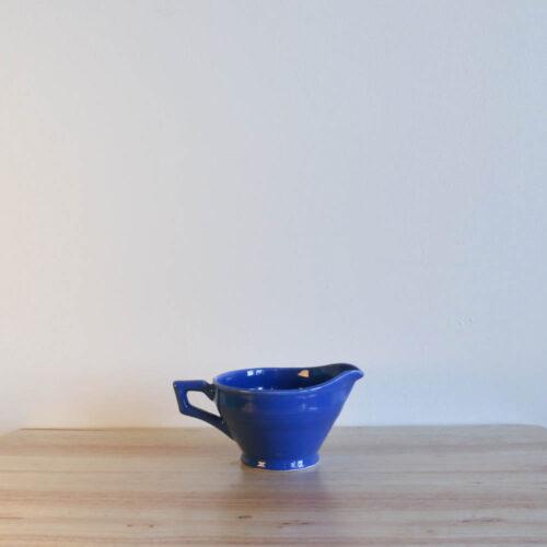 Vernon Kilns Early California Creamer Angled Blue