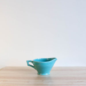 Vernon Kilns Early California Creamer Angled Green