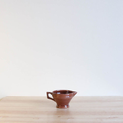 Vernon Kilns Early California Demi Creamer Brown