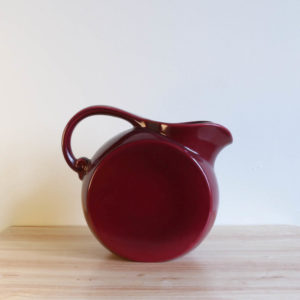 Vernon Kilns Early California Disk Pitcher Maroon