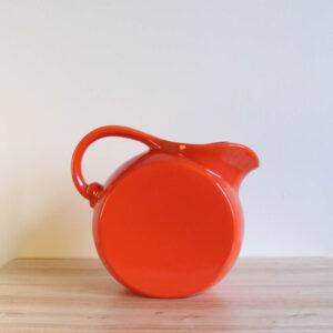 Vernon Kilns Early California Disk Pitcher Orange