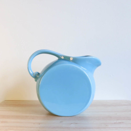 Vernon Kilns Early California Disk Pitcher Turquoise