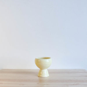 Vernon Kilns Early California Eggcup Yellow