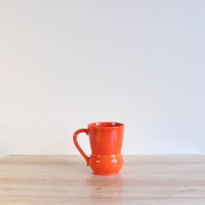 Vernon Kilns Early California #3 Handled Tumbler Orange