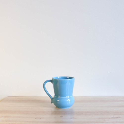 Vernon Kilns Early California #3 Handled Tumbler Turquoise