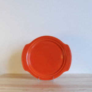 Vernon Kilns Early California Muffin Plate Orange