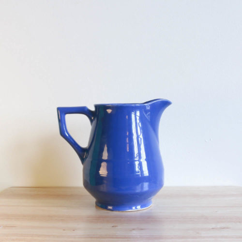 Vernon Kilns Early California Pitcher Angled Blue