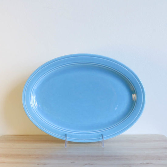 Vernon Kilns Early California Oval Platter 11in Turquoise