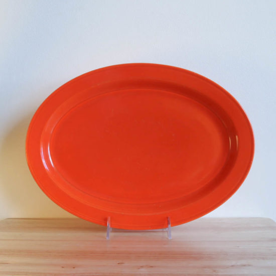 Vernon Kilns Early California Oval Platter 13in Orange