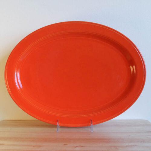 Vernon Kilns Early California Oval Platter 15in Orange