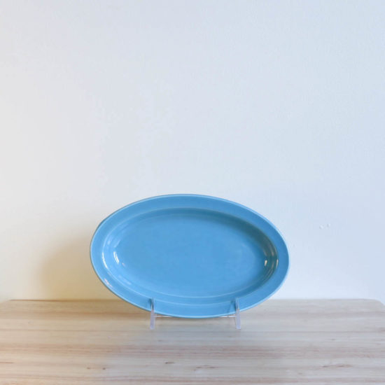Vernon Kilns Early California Oval Platter 9in Turquoise