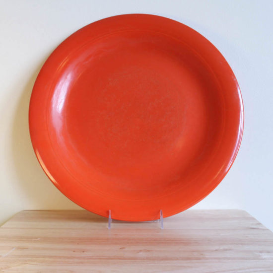 Vernon Kilns Early California Platter 16in Orange