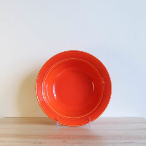 Vernon Kilns Early California Serving Bowl Round Orange