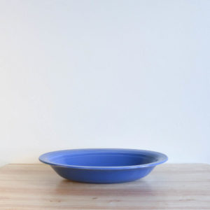 Vernon Kilns Early California Serving Bowl Oval Blue
