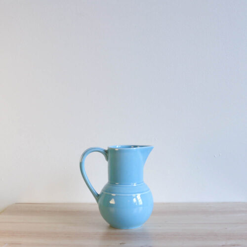 Vernon Kilns Early California Bulb Pitcher Turquoise