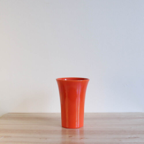 Vernon Kilns Early California Tall Tumbler Orange