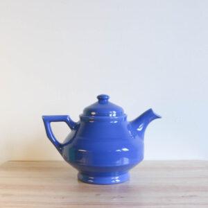 Vernon Kilns Early California Teapot Angled Blue