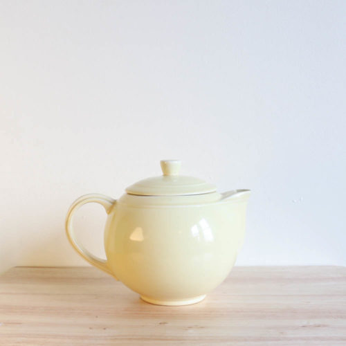 Vernon Kilns Early California Teapot Round Yellow