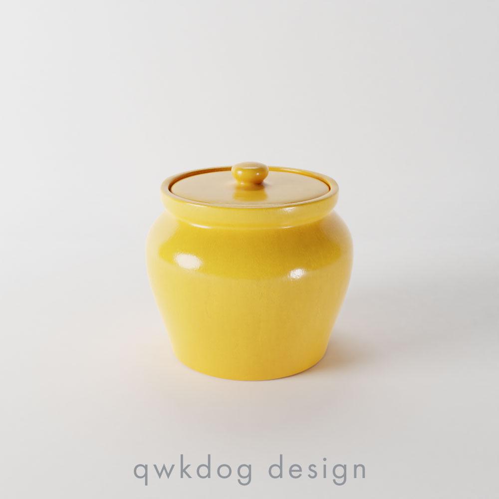 QwkDog Bauer Pottery Plainware Individual Beanpot