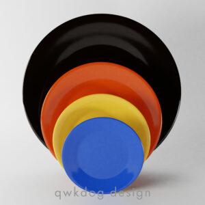 QwkDog Bauer Pottery Plainware Plates
