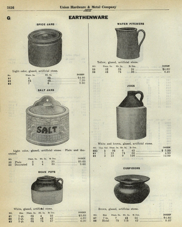 Bauer Pottery Stoneware Catalog Page 02