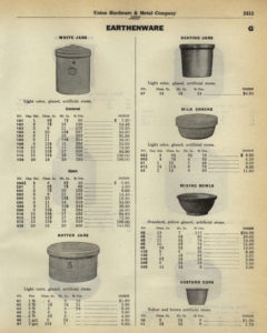 Bauer Pottery Stoneware Catalog Page 01