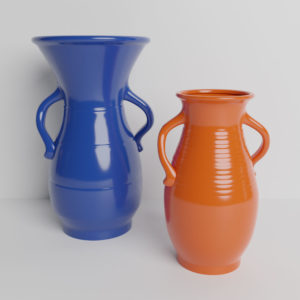 Bauer Pottery Hands on Hips Vases
