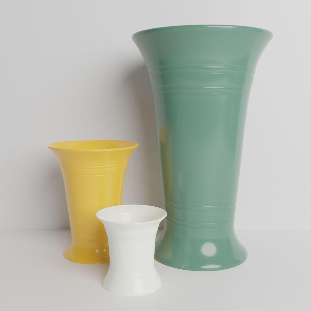 QwkDog 3D Bauer Pottery Florist Stock Vases