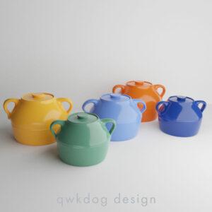 QwkDog Bauer Pottery Plainware Beanpots
