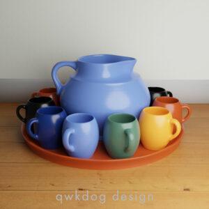 QwkDog Bauer Pottery Matt Carlton Dutch Drinkware