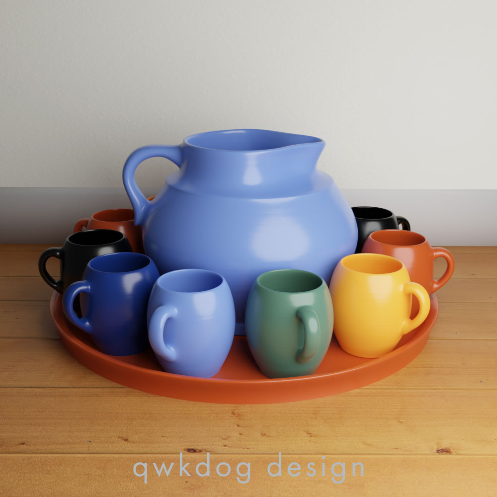 QwkDog Bauer Pottery Matt Carlton Dutch Drinkware