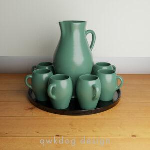 QwkDog Bauer Pottery Matt Carlton Drinkware