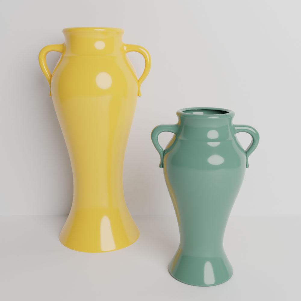 QwkDog 3D Bauer Pottery Rebekah Vases