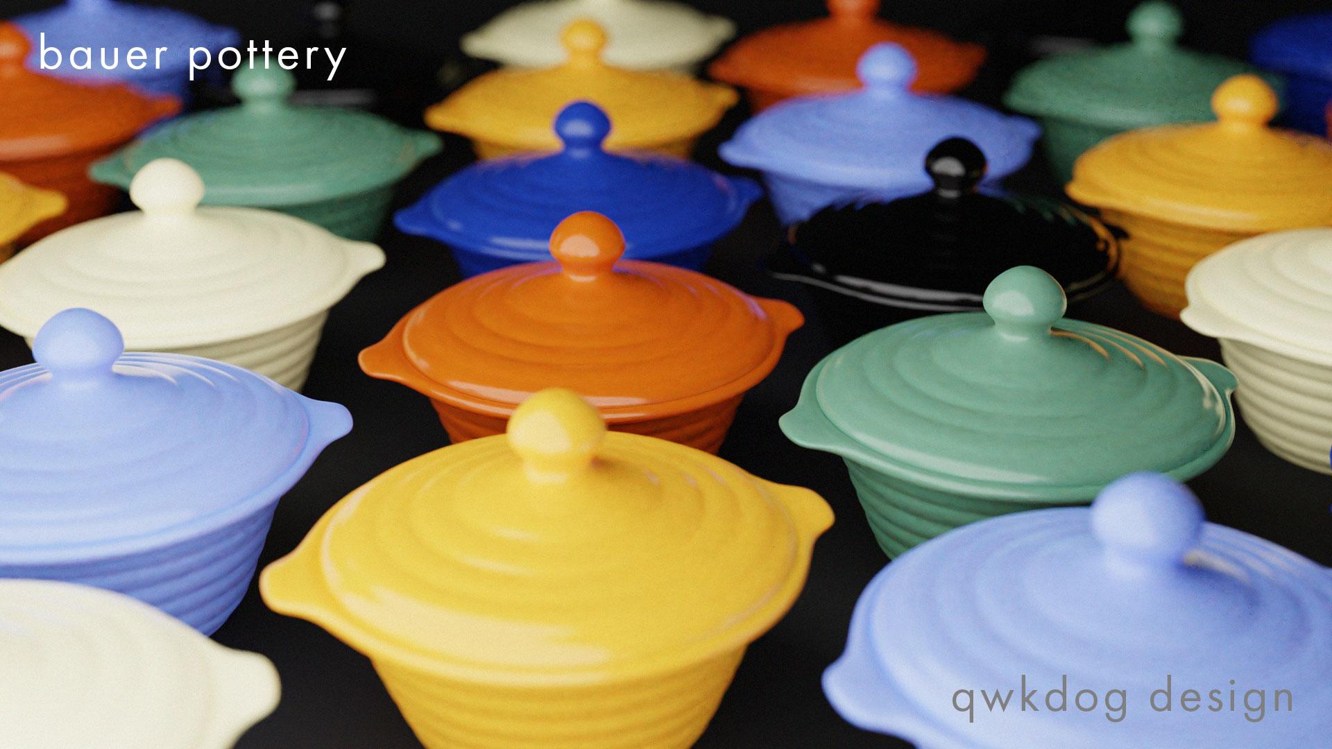 QwkDog Bauer Pottery Ramekins Dark