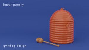 QwkDog Bauer Pottery Honey Jar