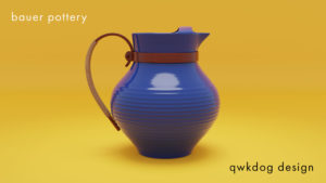 QwkDog Bauer Pottery Ice Pitcher
